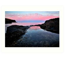 Rockpool Reflections Art Print