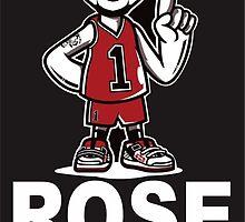 Derrick Rose NBA Basketball Rose Before Hoes black by ibukdsgn
