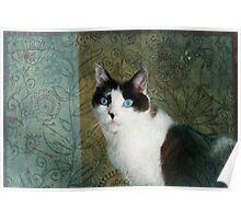 """Flowery Feline"" Poster"