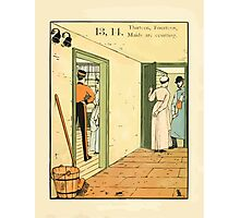 The Buckle My Shoe Picture Book by Walter Crane 1910 23 - Thirteen Fourteen Maids are Courting Photographic Print