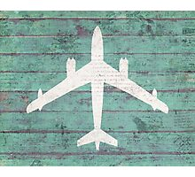 Rustic Airplane Photographic Print