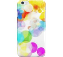 Beautiful pastel halftone bubbles iPhone Case/Skin