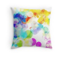 Beautiful pastel halftone bubbles Throw Pillow