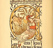 The Golden Primer by John Miller Dow, Illustrated by Walter Crane 1884 14 - Ass Lass Grass Grass by wetdryvac