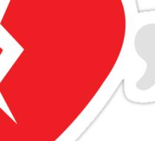 Heart Breakr (Red/White) Sticker