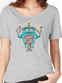 Retro robot colorful candy machine Women's Relaxed Fit T-Shirt