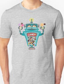 Retro robot colorful candy machine Unisex T-Shirt