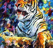 Tiger — Buy Now Link - www.etsy.com/listing/126544096 by Leonid  Afremov