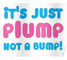 It's just PLUMP not a bump Poster