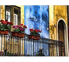balcone fiorito Photographic Print