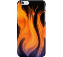 red flame background iPhone Case/Skin