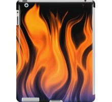 red flame background iPad Case/Skin