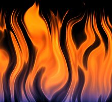 red flame background by bobstudio