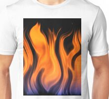 red flame background Unisex T-Shirt