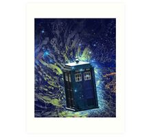 Doctor Who - Tardis in the Space Art Print