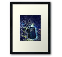 Doctor Who - Tardis in the Space Framed Print