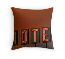 Sunset Hotel Throw Pillow