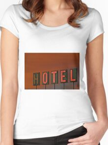 Sunset Hotel Women's Fitted Scoop T-Shirt