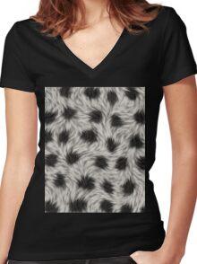 animal fur Women's Fitted V-Neck T-Shirt