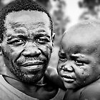 Pygmy Father &amp; Child by Melinda Kerr
