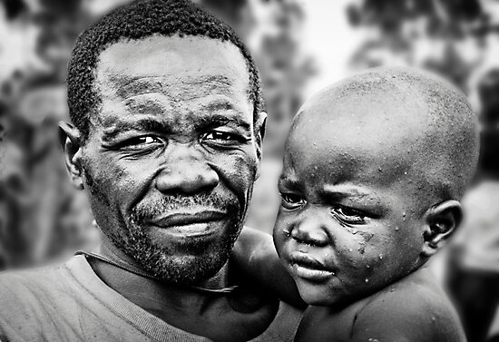 Pygmy Father & Child by Melinda Kerr