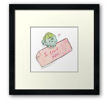 Bulbasaur Valentines Framed Print