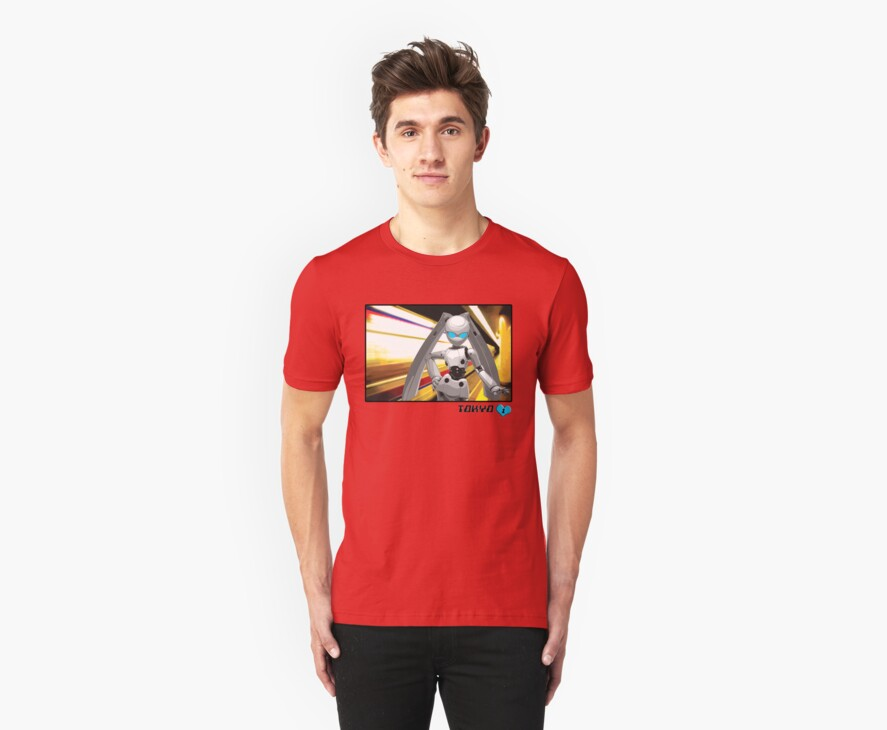 Subway Bunny T-shirt by Kyra  Webb