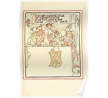 Queen Summer, or, The Tourney of the Lilly and the Rose by Walter Crane 1891 25 - And sudden charging from each side Poster