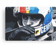 Francois Cevert Helmet Canvas Print
