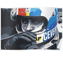 Francois Cevert Helmet Poster