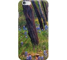 Flowers and Fence Posts iPhone Case/Skin