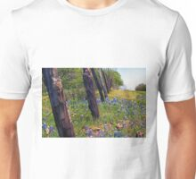Flowers and Fence Posts Unisex T-Shirt