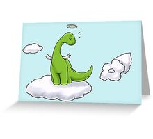 Angel Brontosaurus Greeting Card