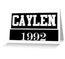 O2L CAYLEN 1992  Greeting Card