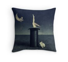 the rabbithole Throw Pillow
