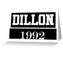 O2L DILLON 1992 Greeting Card