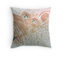 Make Up Your Mind... Mr Squiggle challenge... the painting Throw Pillow