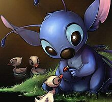 Lilo & Stitch - Stitch Cute Portrait  by TylerMellark