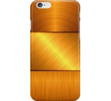 gold metal background iPhone Case/Skin