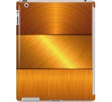 gold metal background iPad Case/Skin