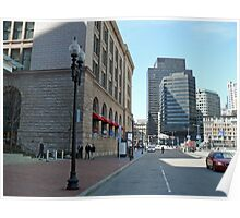 South Station, Summer Street, April in Boston Series 2009 Poster