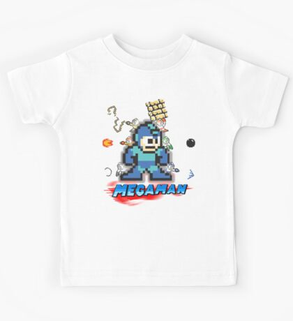 Megamans - Power ups Kids Tee