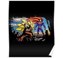 Dragon Ball Ft Superman - Epic Battle Poster