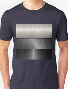 silver metal texture T-Shirt