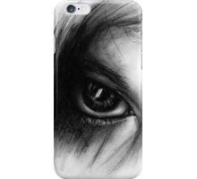 Eye Detail 1 - 1 - Charcoal - Black and White iPhone Case/Skin