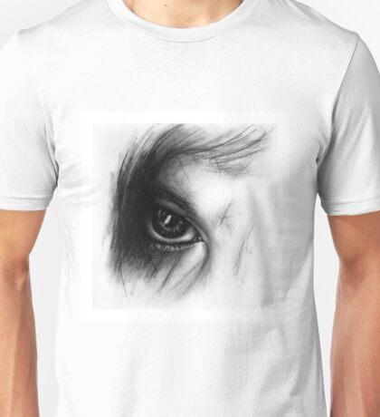 Eye Detail 1 - 1 - Charcoal - Black and White Unisex T-Shirt