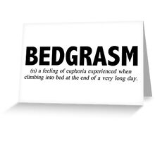 Bedgasm Greeting Card