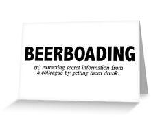 Beerboarding Greeting Card