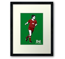 D is for Dalglish Framed Print
