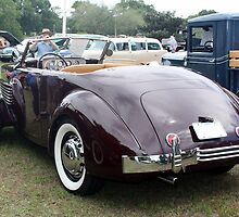 1936 Cord 810 Rear View by AuntDot